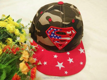Hip hop cap for kids with character embrodery