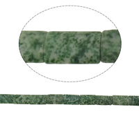 Green Spot Stone Beads Rectangle 13x20x5mm Hole:Appr 1mm Length:Appr 16 Inch 10Strands/Bag pr 20PCs/Strand Sold By Bag