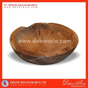 ROUND TRAY M, wood bowls