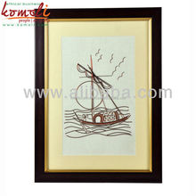 Indian Handicraft Handmade Copper Wire Art & Sculpture - Sailing Boat Design Wire Art - Custom made designs available