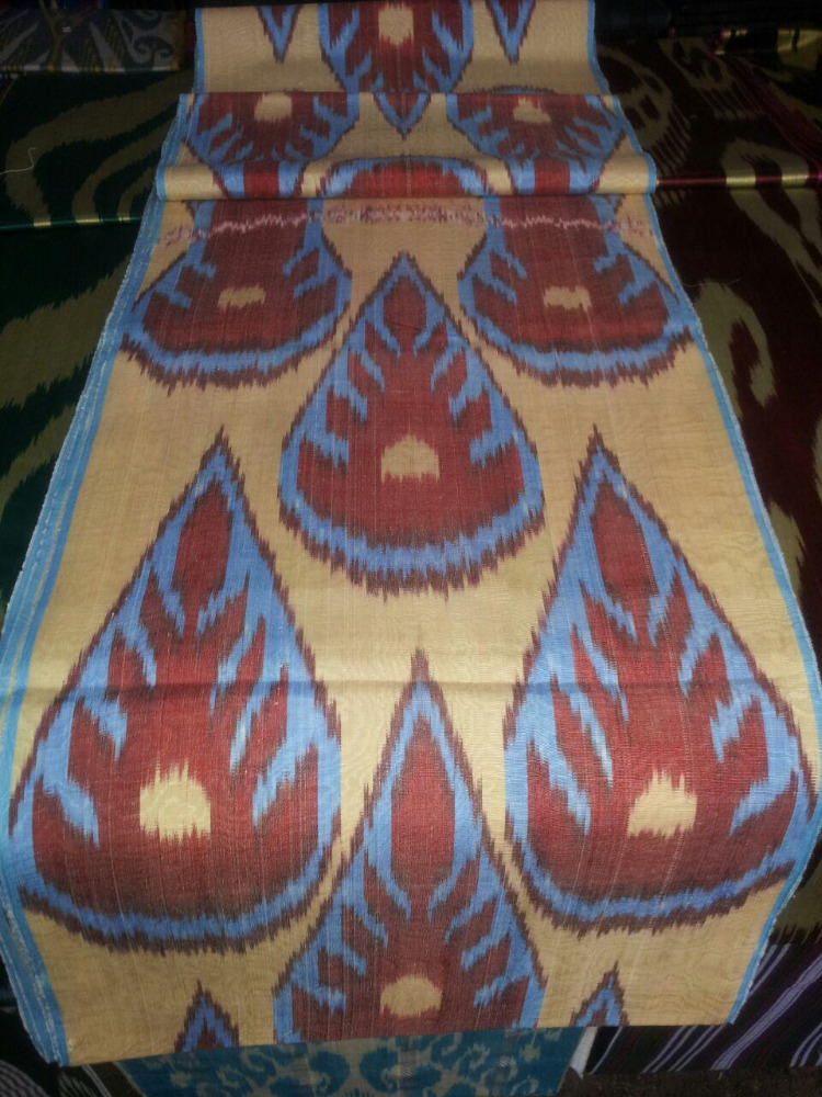 IKAT -Silk and Cotton Adras fabric 13