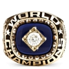 WHOLESALE CUSTOMIZED RING WITH BLUE RESIN AND CUBIC ZIRCONIA EMBLEM ON TOP Yankies championship ring