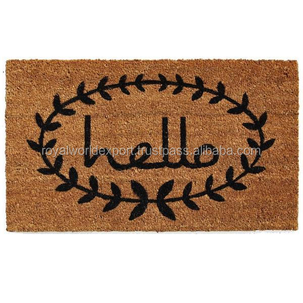 Wholesale Recycled Rubber Flocking Door Mat high quality cheap door mat for entrance use
