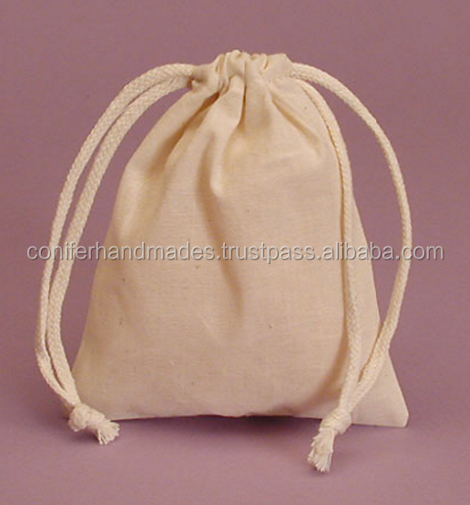 cotton drawstring dust bags for bag manufacturers, bag designers, bag stores,