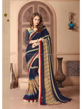 kalyani weightless border attached patched fabrics brown saree
