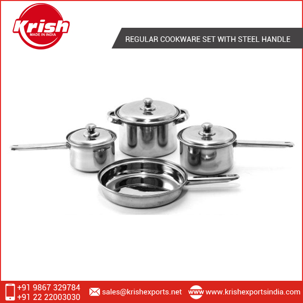 Hot Quality Regular Cookware Set with Steel Handle for Sale
