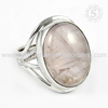 famous 925 Sterling Silver Ring Rose Quartz Gemstone Jewelry Handmade Silver Jewelry Wholesaler Silver Jewellery Supplier