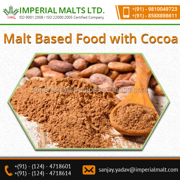 ISO Certified Sweet Taste Choco Malt Based Food with Cocoa at Bulk Price