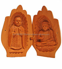 2016 High Quality Customized Wooden Buddha Statue/Antique Painted Wooden Lord Buddha Statue/Wooden god statue/Wooden Handicraft