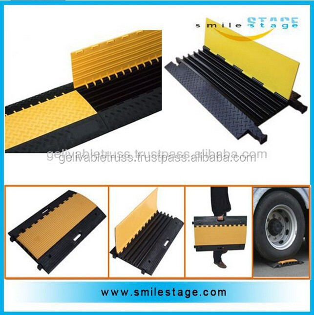Portable floor cable cover