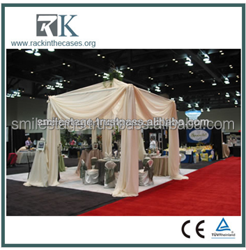 Hot sale outdoor used aluminum pipe and drape exhibition backdrop display