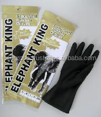 Double Dipped Black Industrial Rubber Glove