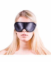 NEW 2015 BLACK BONDAGE BLINDFOLD EYE MASK SOFT LEATHER MATERIAL