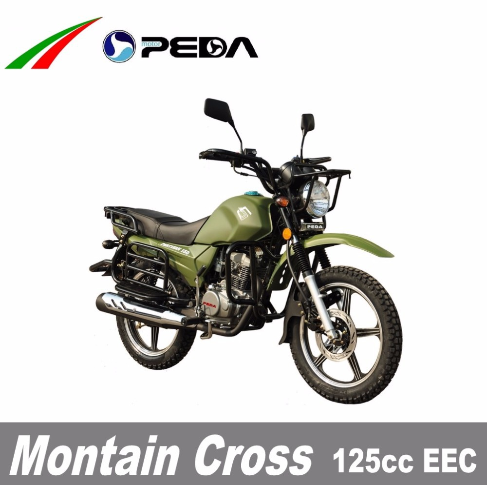 (PEDA Motor) 2017 Hot Sale 125cc EEC Cross Motorocycle Dirtbike Enduro for Sale COC big fuel tank18 inch tire (Montain Cross)