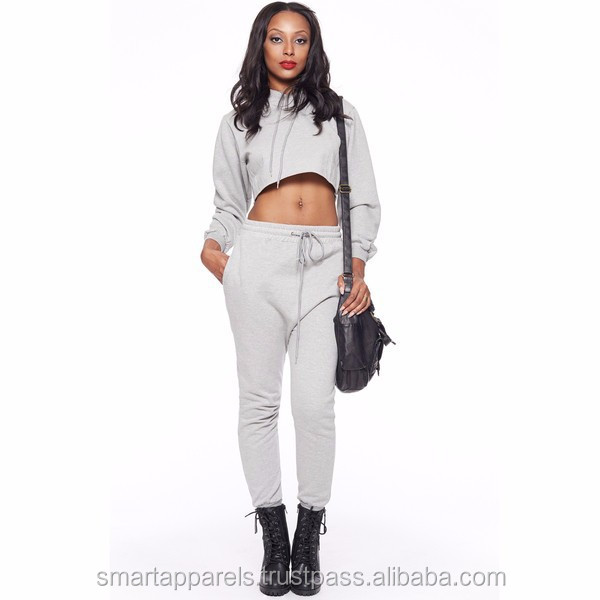 Wholesale soft fleece ladies designer trouser suits