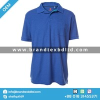 Mens fashionable polo shirt blue marle basic solid and multi color PK polo from Bangladeshi manufacturer
