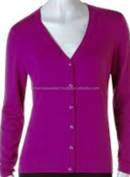 WOMEN KNITWEAR- FINEST ACRYLIC KNITTED CASUAL BUTTON CARDIGAN SWEATERS