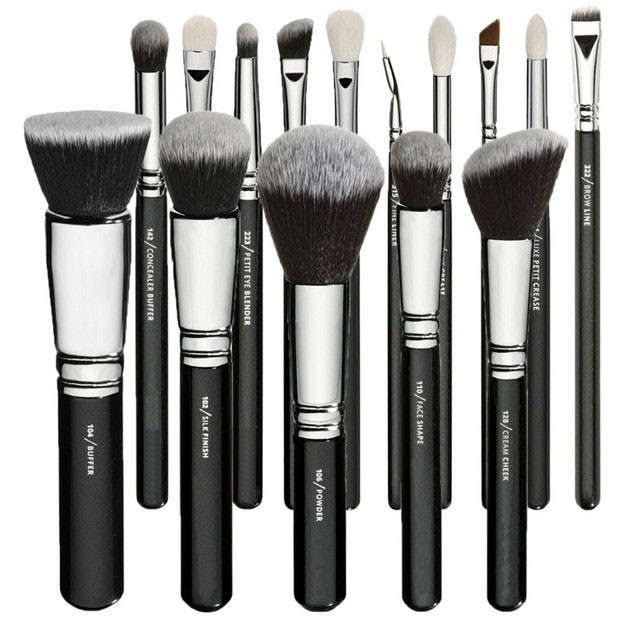 Luxe complete set go pro maquiagem professional make up brush travel makeup brushes set