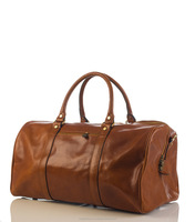 Traditional tuscany leather travel bag