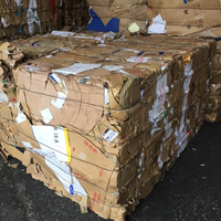 Carefully selected clean used cardboard recycling waste paper