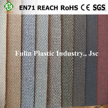 Embossed PVC soft leather for Sofa and Furniture