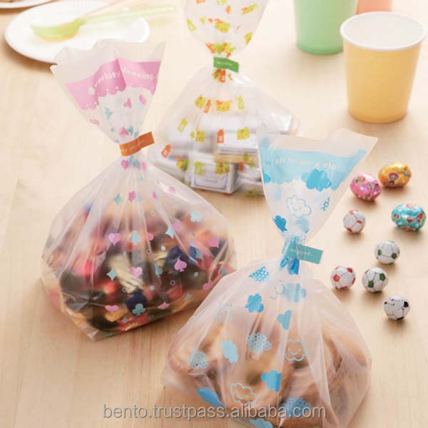 "Candy Bag ""Home""/ decorative plastic candy, plastic disposable lunch bags, plastic bag printing"