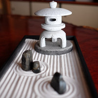 Traditional style ZEN Garden design with genuine stone made in Japan