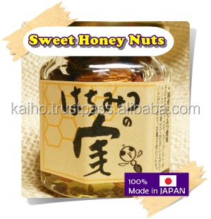 Honey and nuts premium Japanese jam sauce high quality high grade macadamia nuts finely