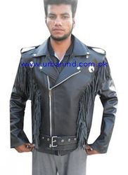 High Quality Wholesale Urban Cheap price Vintage Custom Made Fringe Motorcycle/Motorbike/Biker/ Men Western Leather Jacket