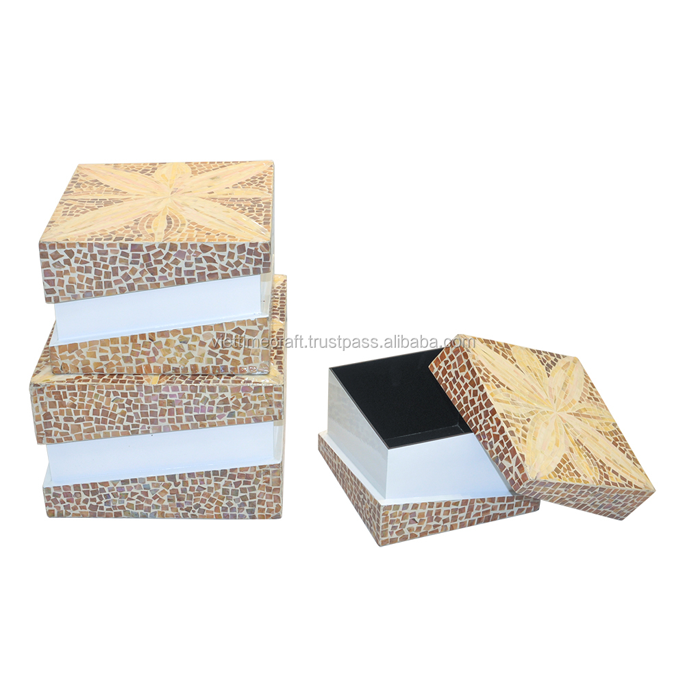 Hot selling 2016!!! Makeup kit boxes, wood cosmetics cases with lacquer and mosaic finish, wood jewelry boxes