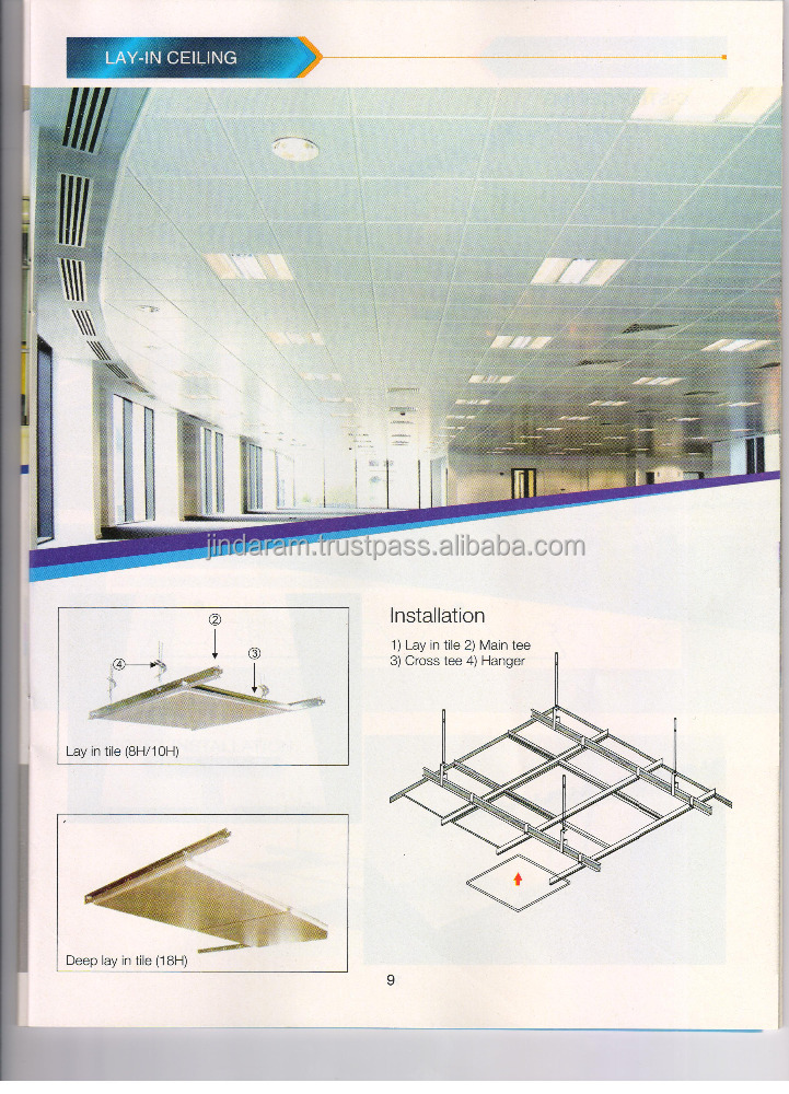 Lay In Ceiling Installation Guide