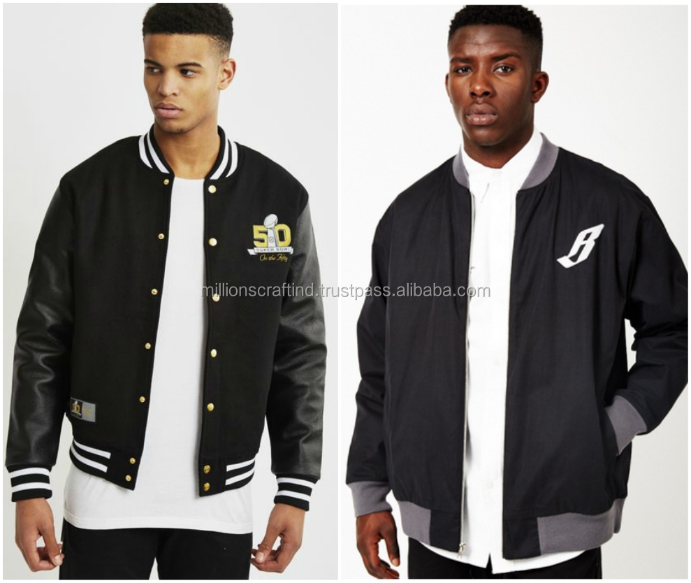 Varsity Jacket Fleece Fabric / Best Selling Wholesale Cheap Price Varsity Jacket / Sports wears Made in Pakistan