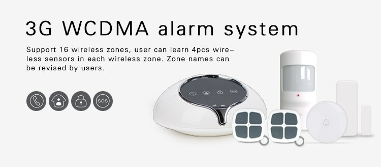 House security 3G wireless alarm system & EU/US/AU version 3G network home security alarm system