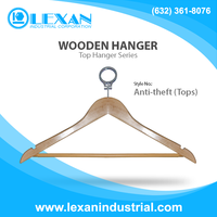 "Anti-theft (Tops) - 17"" Wooden Hangers for Tops, Shirt, Blouse, Jacket, Blazer, Coat (Philippines)"