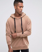 longline tall hoodies custom man cowl neck front pouch pocket pullover hoodie