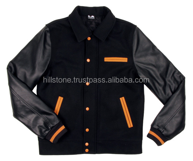 Wholesale custom bomber wool varsity young men jackets for sports