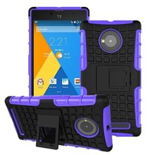 For Micromax Yu Yuphoria Case 5.0inch Hybrid Kickstand Rugged Rubber Armor Hard PC+TPU With Stand Function Cover Cases