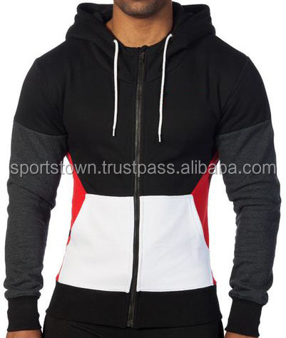 New men's fashion custom made fitness hoodies, Gym slim fit hoodies manufacturer in pakistan