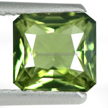 1.28 Cts Natural Green Sapphire Gemstone Emerald Cut Certified Unheated Srilanka