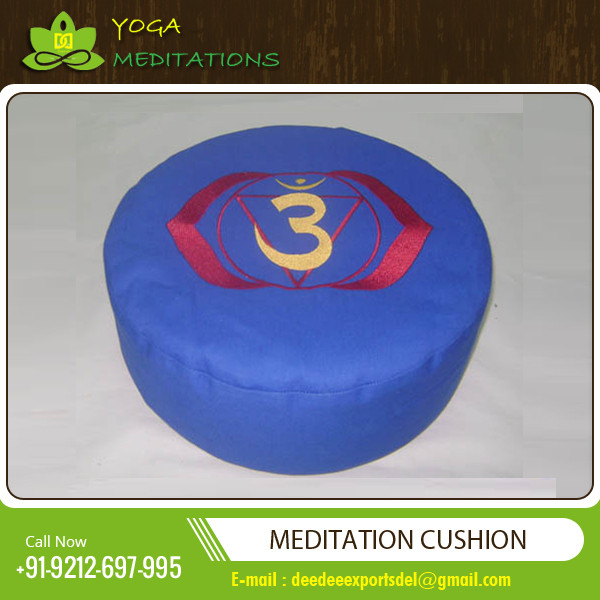 Meditation Brocade Fabric Cushions with Washable Cover