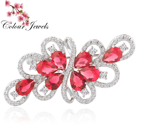 Luxury Water Drop AAA Cubic Zircon Brooches for Women Wedding Jewellery