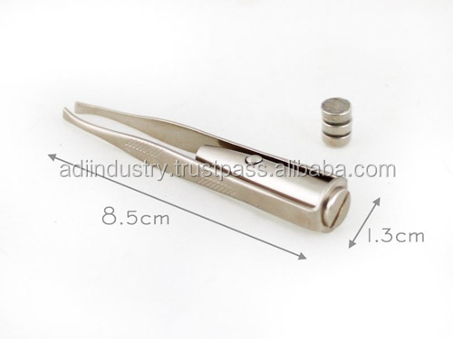 Led Light Stainless Steel Electric Eyebrow Tweezer