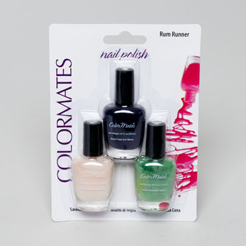 NAIL POLISH 3PK RUM RUNNER COLORMATES CARDED .47OZ #443351