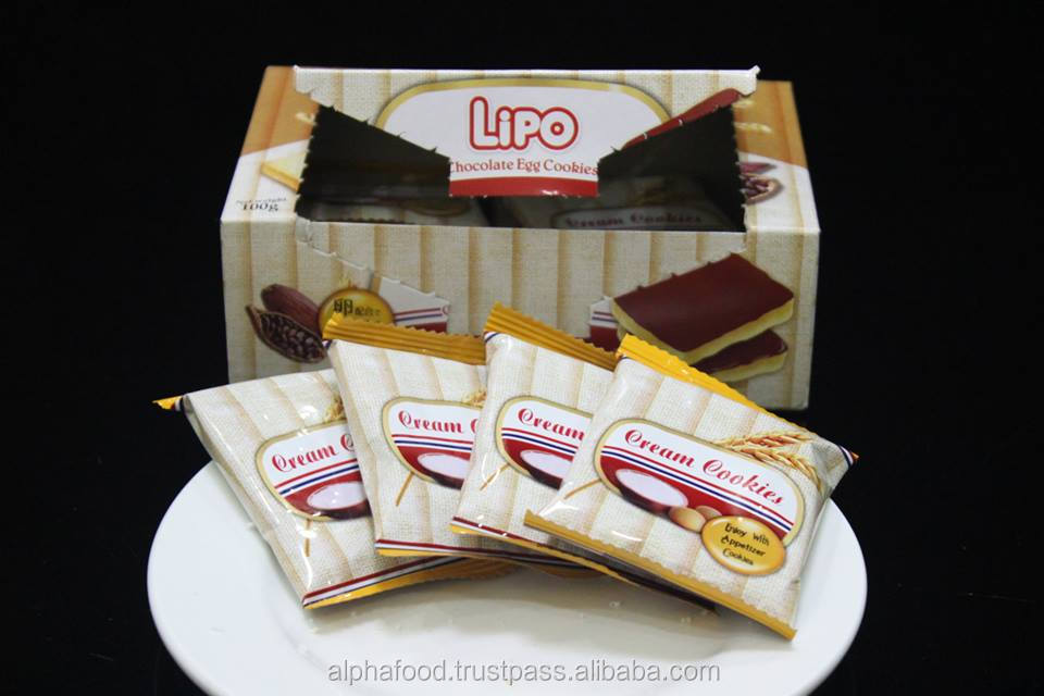 crispy and crunchy chocolate biscuit Lipo box 100g - best of chocolate biscuit from Vietnam