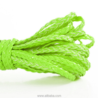 "Braiding Leatheroid Jewelry Cord Fluorescent Green 5mm( 2/8""),10M"