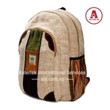 Hemp Bag Backpack Handmade Nepal School College Shoulder Bag