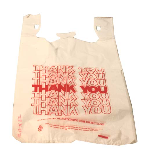 T-Shirt Bag Thank You-White Korea 400pcs