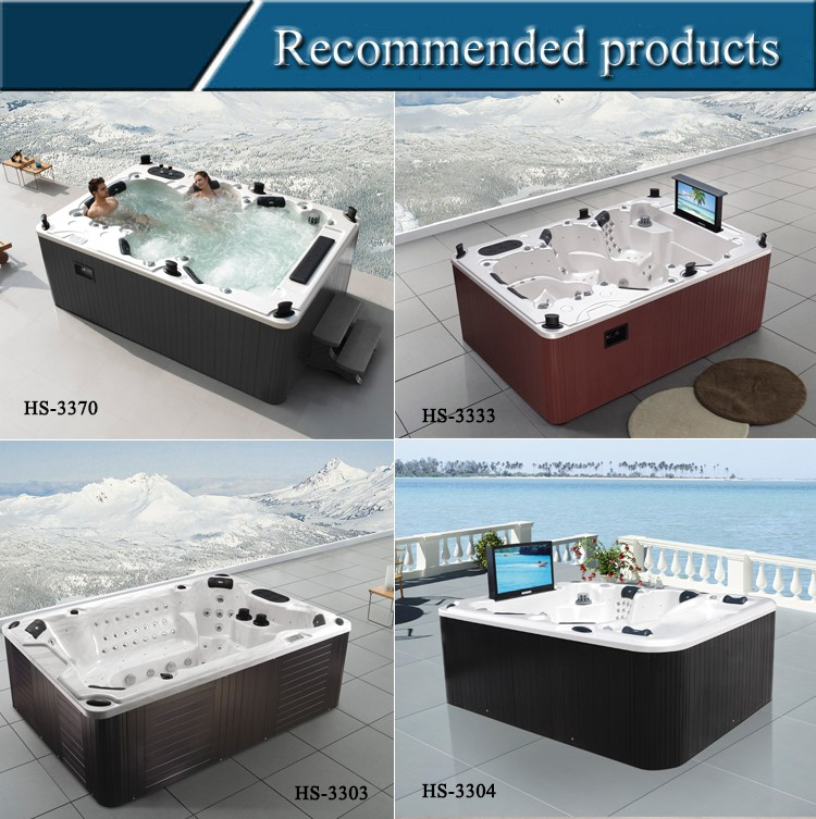 HS-S04X large hot sexy family spa tub,spa hot tub with 32 inch tv