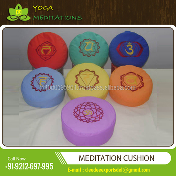 Yoga Zafu Multi Colour Different Pattern Yoga Zafu Meditation Cushions at Wholesale Rate for Bulk Buyers