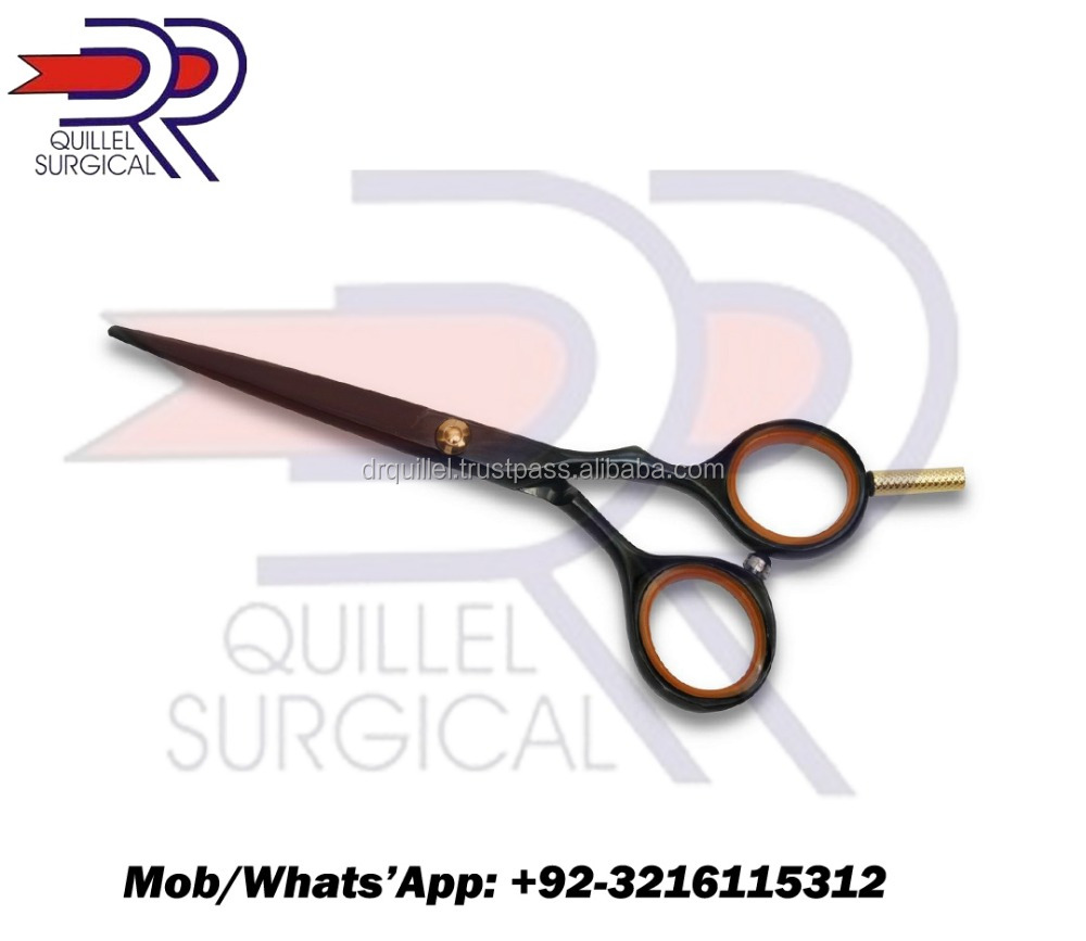 Professional Hair Barber Scissors Black Color Coated 6""
